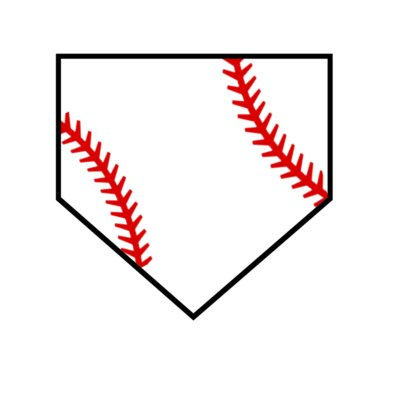 home plate with seams