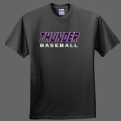 Thunder Baseball Black Shirt - Heavy Cotton 100% Cotton T Shirt
