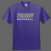 Thunder Baseball Double Outine - Heavy Cotton 100% Cotton T Shirt